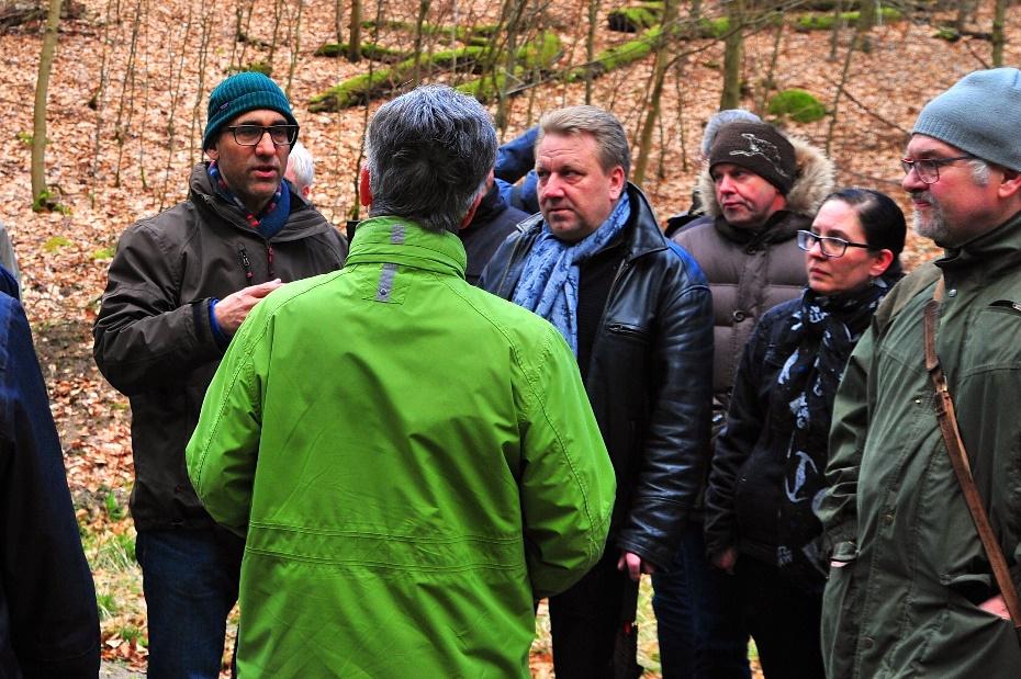 Waldbegehung mit Grünen-Politikern
